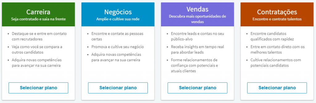 Conta Premium no LinkedIn